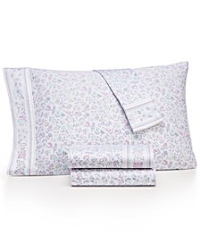 Novelty Print Twin XL 3-Pc. Sheet Set, 250 Thread Count 100% Cotton, Created for Macy's
