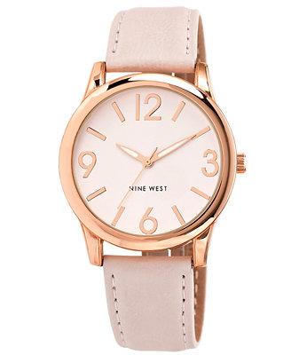 Nine West Women S Light Blush Strap Watch 40mm Nw 1158pkrg