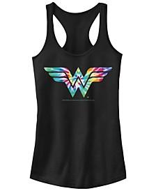 Juniors Wonder Woman Tye Dye Racerback Tank Top
