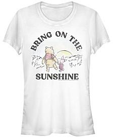 Juniors Winnie the Pooh Sunshine Cowl Neck T-shirt