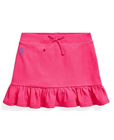 Little Girls Ruffled Stretch Mesh Skort