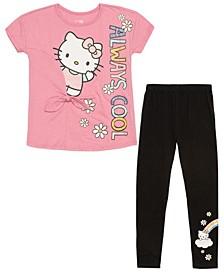 Girls Hello Kitty Always Cool 2 Piece Legging Set