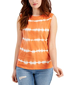 Plus Size Cotton Tie-Dyed Tank, Created for Macy's
