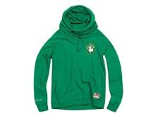 Women's Boston Celtics Funnel Neck Fleece Hoodie