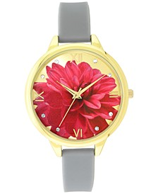 INC Women's Gray Silicone Strap Watch 38mm, Created for Macy's
