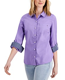 Roll-Tab Button-Up Shirt