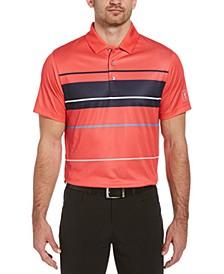 Men's Printed Bold Block Polo Shirt