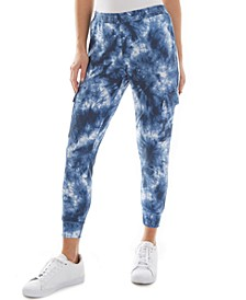 Juniors' Tie-Dyed Joggers