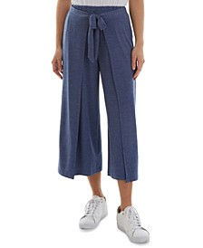 Juniors' Pull-On Cropped Wrap Pants