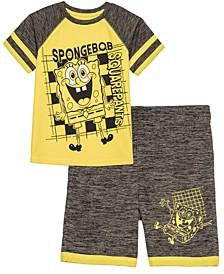Little Boys SpongeBob SquarePants Happy Active T-shirt and Shorts Set, 2 Piece