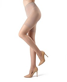 Women's Crystal Sheer Shaper Control Top Tights