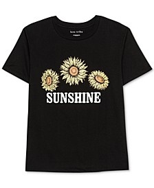 Juniors' Sunshine-Graphic T-Shirt