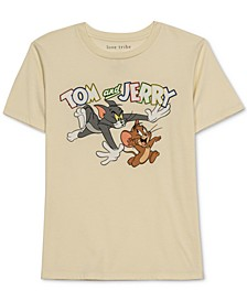 Juniors' Tom and Jerry-Graphic T-Shirt