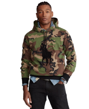 Polo Ralph Lauren MEN'S BIG PONY DOUBLE-KNIT CAMO HOODIE