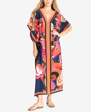 Trina Turk THEODORA SILK PRINTED MAXI DRESS