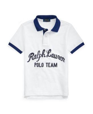 Toddler Boys Polo Bear Cotton Mesh Polo Shirt