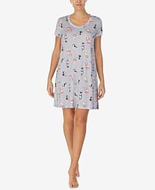 Printed Sleep Shirt Nightgown