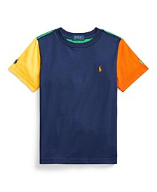 Little Boys Color Blocked Cotton Jersey Tee