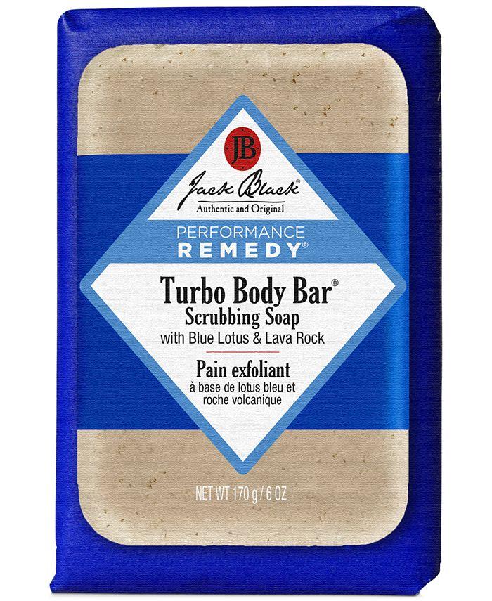 Jack Black - Turbo Body Bar Scrubbing Soap with Blue Lotus & Lava Rock, 6 oz