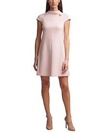 Roll-Neck A-Line Dress