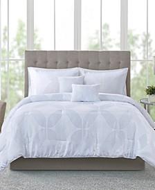 Lynx 9-Pc. Tonal Jacquard Comforter Sets