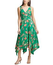 Petite Handkerchief-Hem Midi Dress
