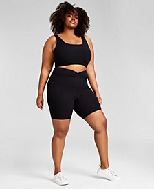 Trendy Plus Size Ribbed Knit Bralette, Created for Macy's