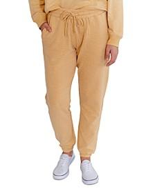 Juniors' Heathered Fleece Sweatpants