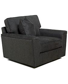 "Jordani 44"" Fabric Swivel Chair, Created for Macy's"