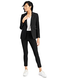 Polka Dot One Button Jacket, Short Sleeve Blouse & Pants, Created for Macy's