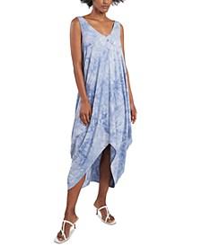 Tie-Dyed Handkerchief-Hem Maxi Dress