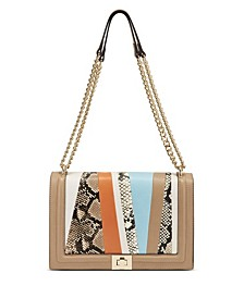 INC Ajae Patchwork Flap Crossbody, Created for Macy's