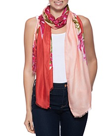 Bold Floral-Print Pashmina Scarf, Created for Macy's