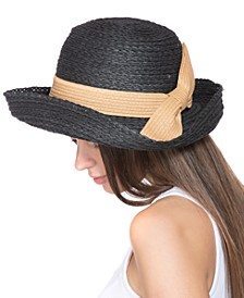Straw Bow Kettle Hat, Created for Macy's