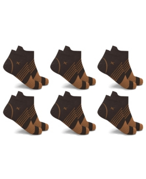 Men's and Women's Copper-Infused V-Striped Ankle Compression Socks