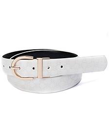 Plus Size Reversible Logo-to-Smooth Belt