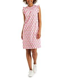Printed Ruffled Sleeveless Shift Dress, Created for Macy's