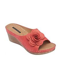 Tokyo Floral Wedge Sandal