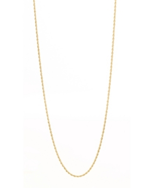 Men's Gold Plated Rope Chain in Stainless Steel Necklace