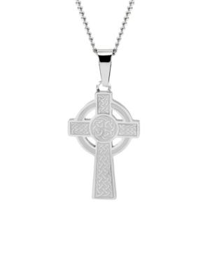 Men's Stainless Steel Celtic Cross Pendant Necklace