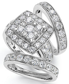 14k White Gold Diamond Bridal Ring Set (4 ct. t.w.)