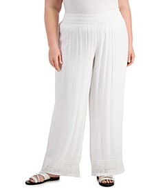 Plus Size Gauze Pants, Created for Macy's