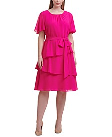 Plus Size Tiered A-Line Dress