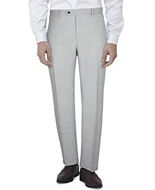 Men's Slim-Fit Gray Tic Suit Pants