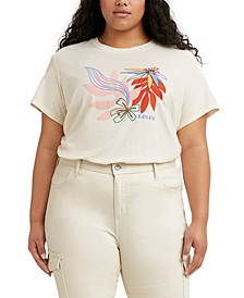 Trendy Plus Size Graphic Varsity T-Shirt