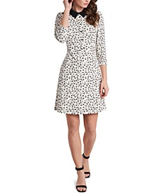 Prim Ditsy-Print Collared Dress, Created for Macy's
