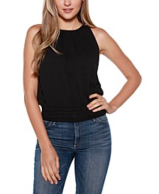Black Label Ruched Halter Top