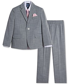 Baby Boys Bold Dobby Suit Set With Hanky