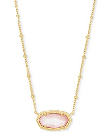 """14k Gold-Plated Stone 18"""" Adjustable Pendant Necklace"""