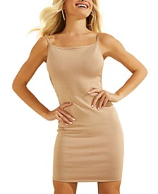 Cutout-Back Sleeveless Sheath Dress